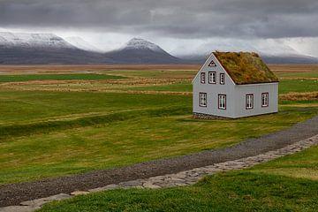 Einsames Haus Island von Ben van Boom