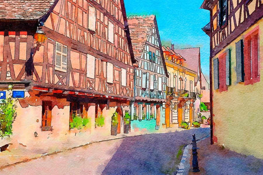 Colmar town, France