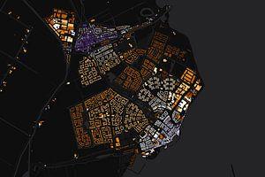 Edam en Volendam abstracte kaart van
