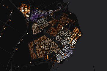 Edam en Volendam abstracte kaart von Stef Verdonk
