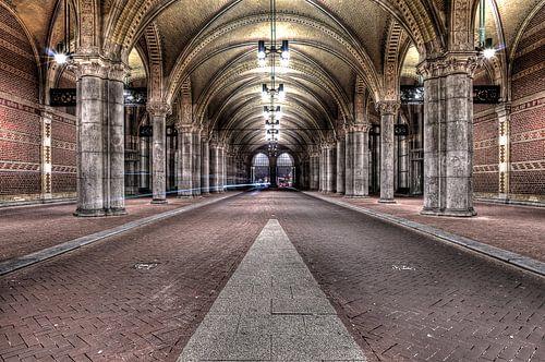 Tunneltje onder rijksmuseum van