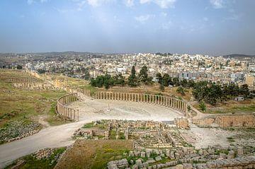 Romeinse stad Jerash in Jordanië van Jelmer Laernoes