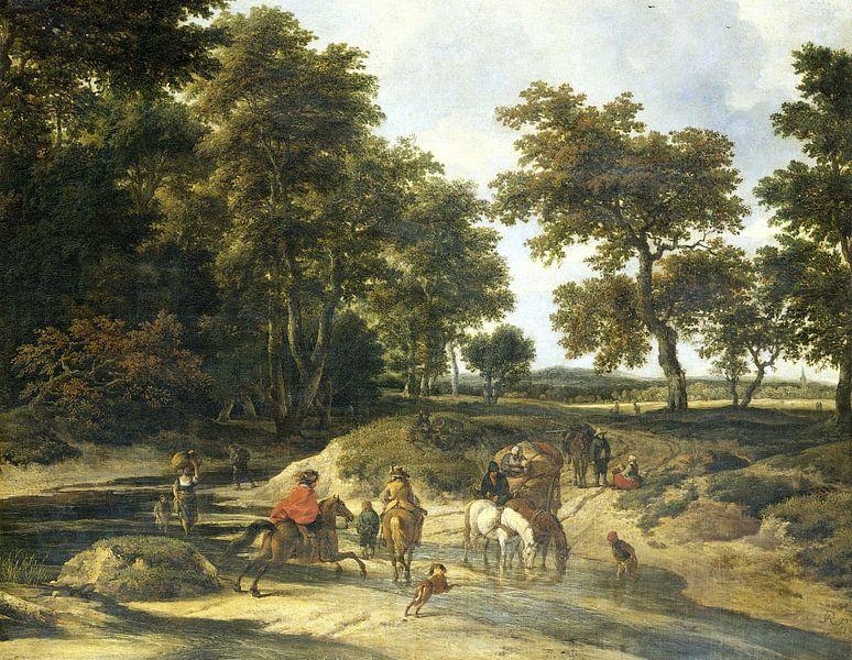 Die Furt, Jacob Isaacksz. van Ruisdael von Meesterlijcke Meesters