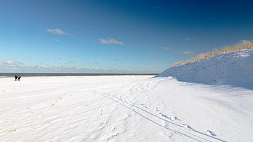 Schneedecke Nordseestrand Vlieland. von Gerard Koster Joenje (Vlieland, Amsterdam & Lelystad in beeld)