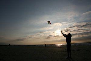 Vliegeren in de avond