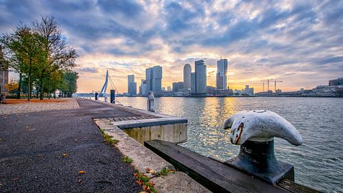 Zonsopkomst in Rotterdam