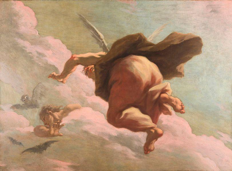 Die schwindende Nacht, Giovanni Antonio Pellegrini von Meesterlijcke Meesters