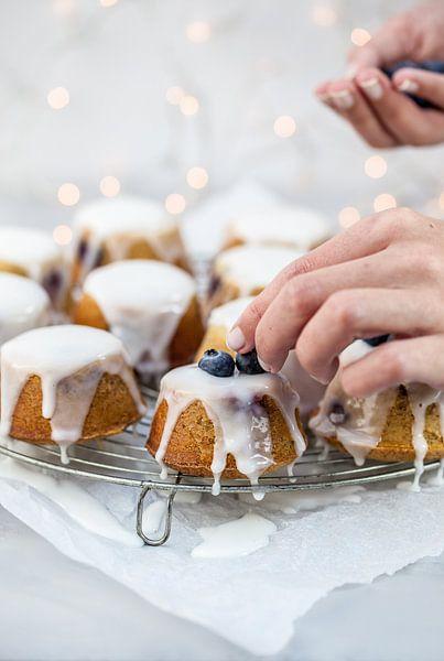 Teacakes met blauwe bessen van Nina van der Kleij