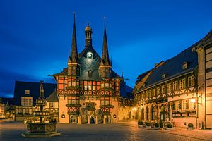 The famous Town Hall in Wernigerode, Harz, Saxony-Anhalt, Germany.
