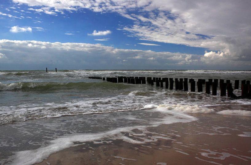 Eb en vloed in Zoutelande van MSP Canvas
