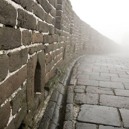 Mistige chinese muur van