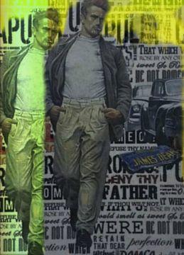 James Dean Urban Collage - Oldtimer von Felix von Altersheim