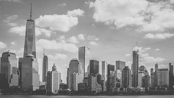 Lower Manhattan, black and white