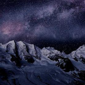 Milky Way in the Bernina Alps van Ben Töller
