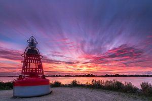 Zonsondergang bij Westeinderplassen in Aalsmeer
