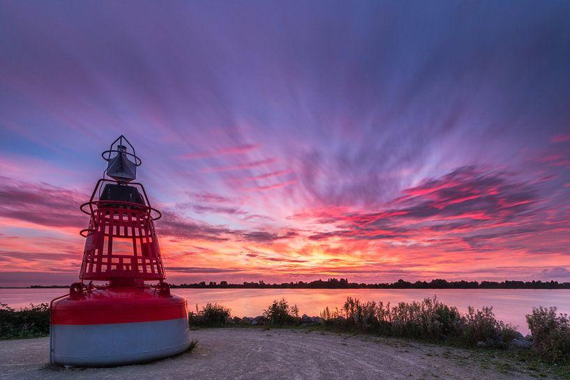 Zonsondergang bij Westeinderplassen in Aalsmeer van Ardi Mulder