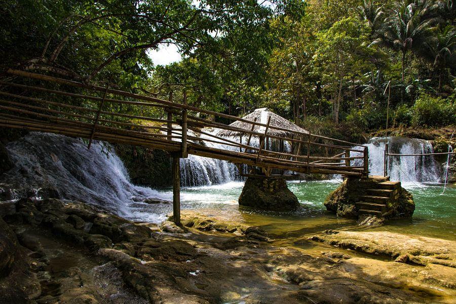 Waterval in het binnenland van de Filipijnen