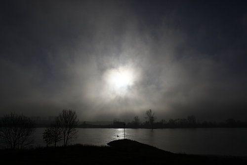 De Lek in de mist Vianen