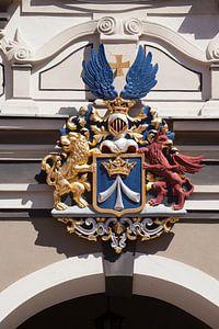 Stralsund :  Stralsunder Wappen, am Rathaus