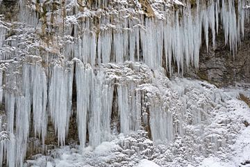 Bevroren waterval van Barbara Brolsma