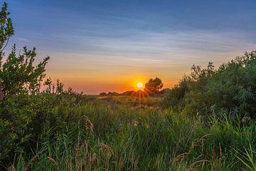 Sonnenuntergang auf den Schwalben von Flakkee von Arisca van 't Hof