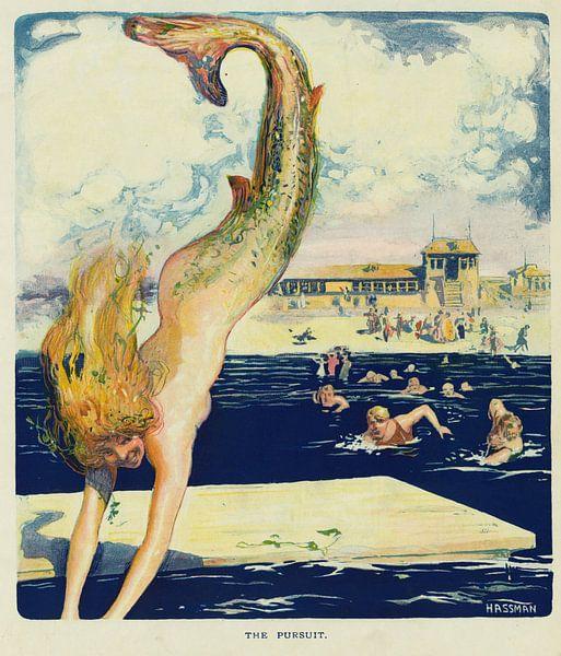 Puck: Die Verfolgung von Carl Hassmann, 1910 von Atelier Liesjes