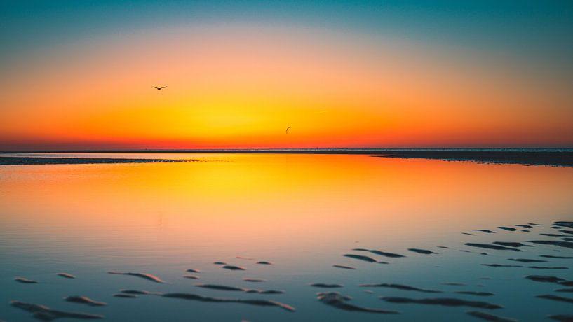 Breezand zonsondergang 6 van Andy Troy