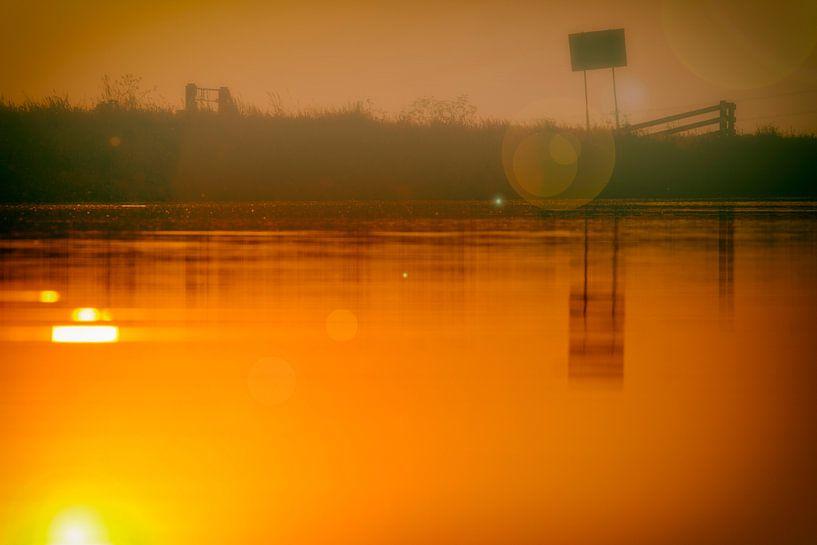 Zonsondergang de Laak van Studio de Waay