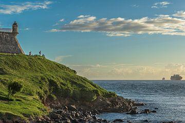 Seemuseum von Bahia am späten Nachmittag in der Stadt von Salvador Brazil von Castro Sanderson