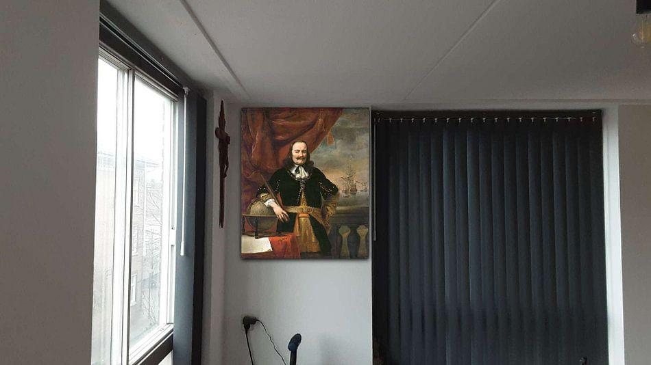 Klantfoto: Portret schilderij: Michiel de Ruyter als luitenant-admiraal, Ferdinand Bol, 1667