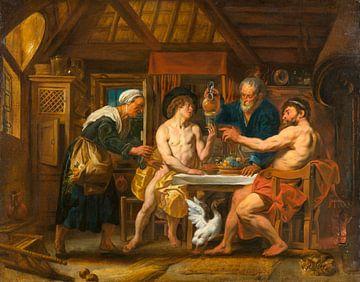 Jupiter und Merkur im Haus von Philemon und Baucis, Jacob Jordaens