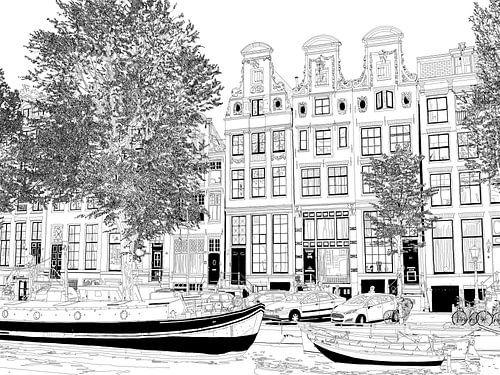 Tekening Herengracht 51-65 Amsterdam