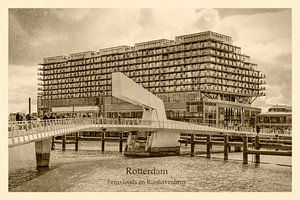 Oud ansicht Fenixloods en Rijnhavenbrug van Frans Blok