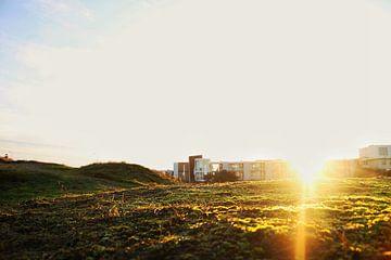 Sun rays in Noordwijk, Holland van Bram Jansen