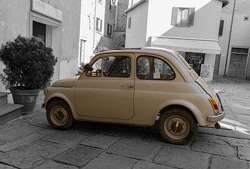 Fiat 500 Oldtimer Schwarz-Weiß von MDRN HOME