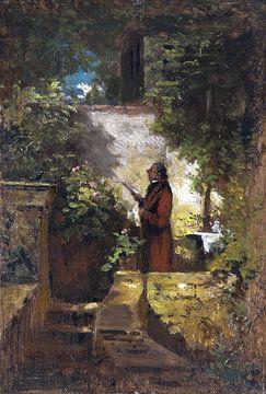 Sonntagmorgen, CARL SPITZWEG, 1851-1855 von Atelier Liesjes