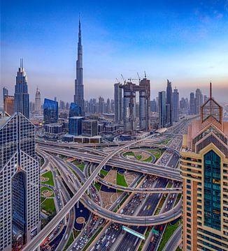 Snelwegkruising Dubai van Rene Siebring