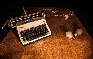 Typmachine en lampjes