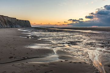 Zonsondergang aan de Opaalkust van