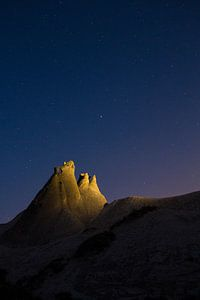 Sterrenhemel in Cappadocie, Turkije van