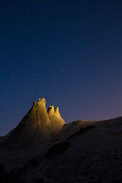 Nachthimmel in Kappadokien, Türkei von Johan Zwarthoed