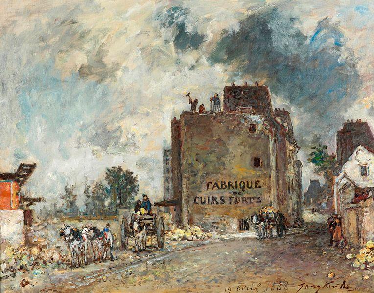 Abbrucharbeiten in der Rue des Franc-Bourgeois St. Marcel, Johan Barthold Jongkind von Meesterlijcke Meesters
