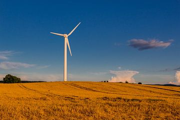 Windmolen in prachtig avondlicht van Oliver Hlavaty