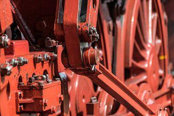 Detail van een stoom locomotief van Pascal Raymond Dorland
