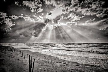 zeezicht met de Noordzee en het strand van eric van der eijk