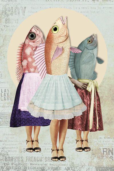 3 poissons appelés Wanda sur Marja van den Hurk