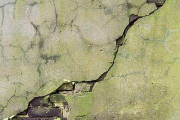 Scheur in oude muur van Cilia Brandts