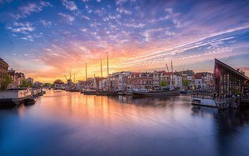Sonnenuntergang Galgewater Leiden von Dick van Duijn