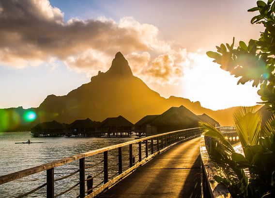 Zonsondergang Bora Bora