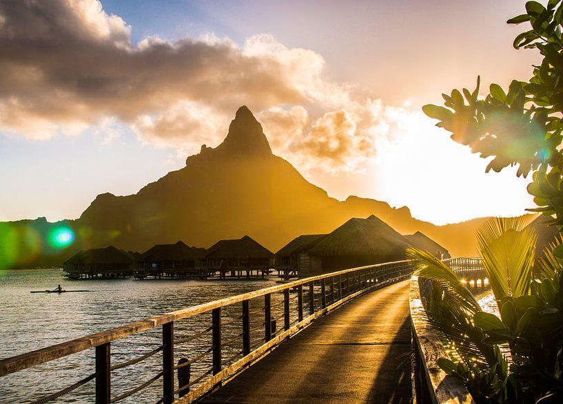 Zonsondergang Bora Bora van Ralf van de Veerdonk